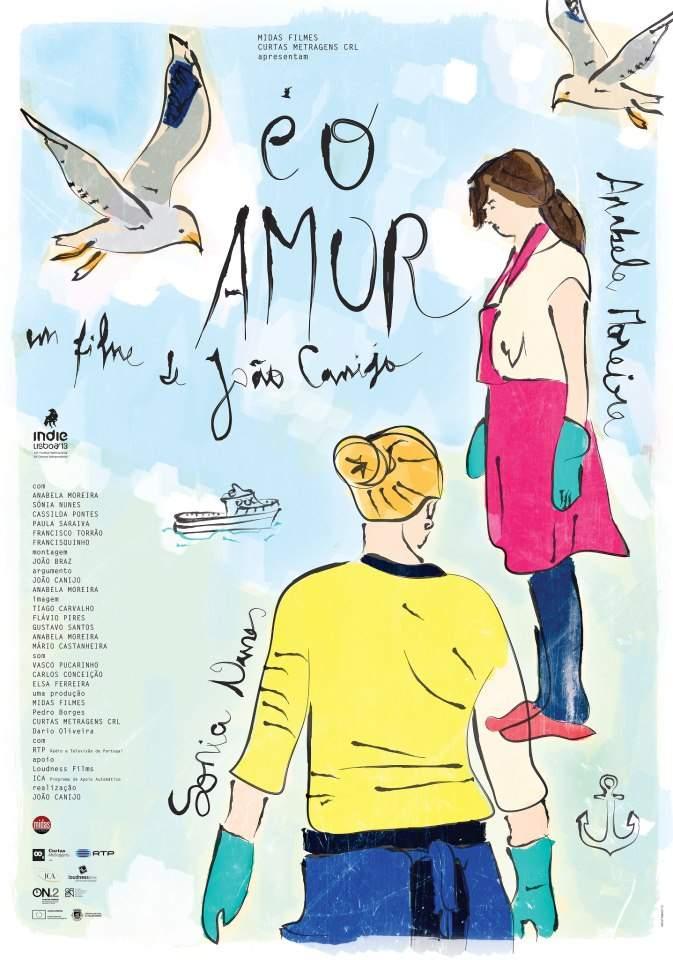 """""""É o Amor"""" (2013) - poster"""