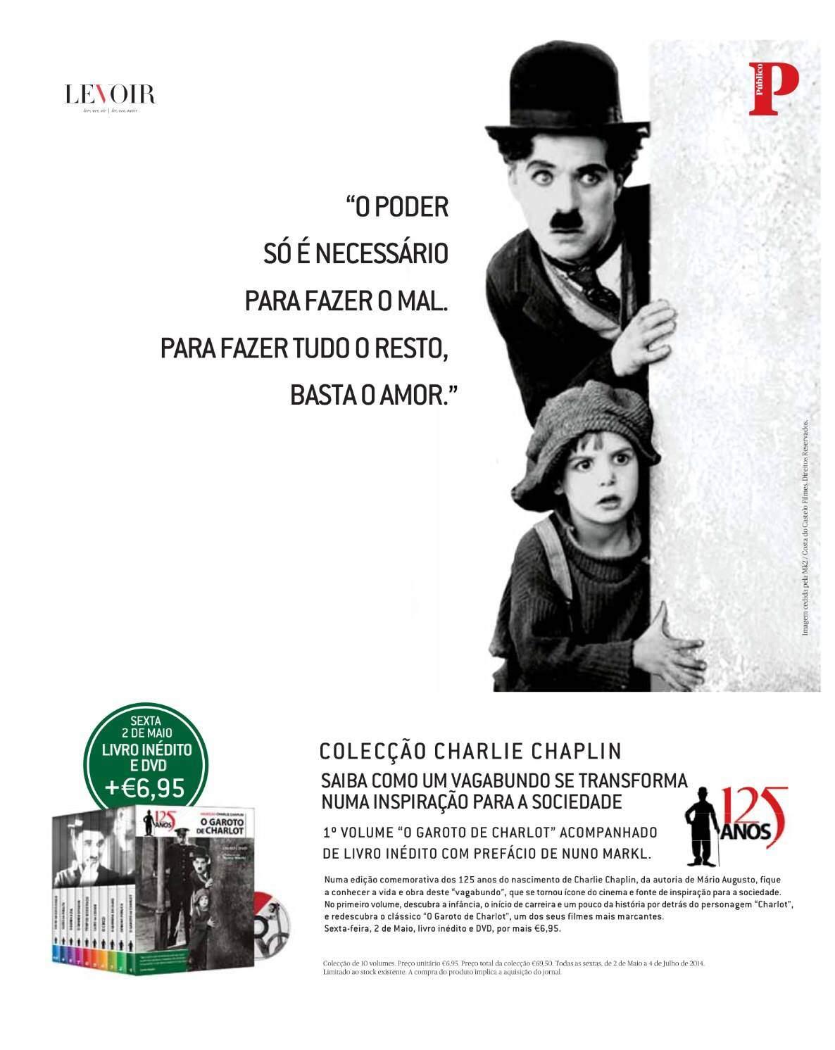 """Público lança Colecção """"Charlie Chaplin 125 Anos""""_2"""