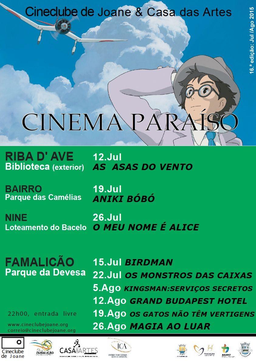 Cineclube de Joane: Cinema Paraíso 2015_2