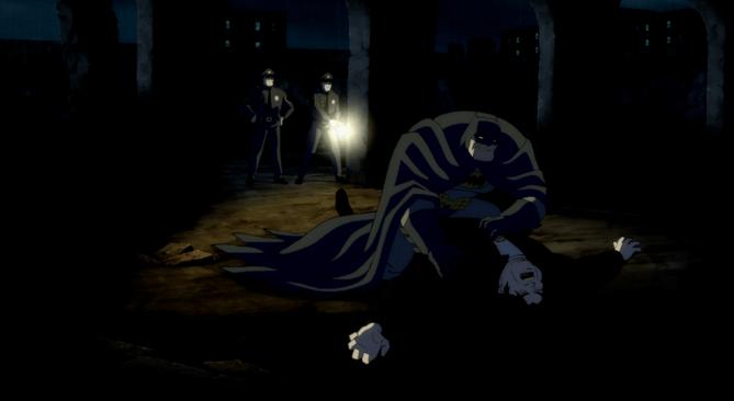 Ao contrário de certos, mais recentes Batmans, este não mata meliantes como se fosse um buffet da morte, mandando-os em vez disso para o hospital.